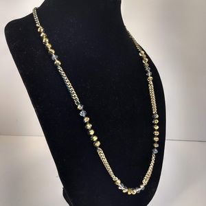 Chloe and Isabel Green Gold Mixed Chain Necklace